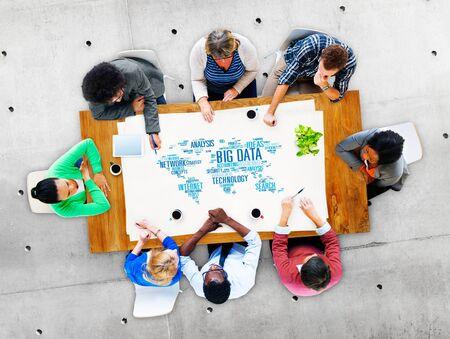 network concept: Big Data Network Technology Internet Online Concept Stock Photo