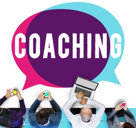 training device: Coach Coaching Skills Teach Teaching Training Concept Stock Photo