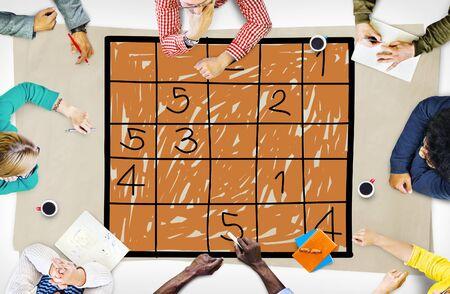 problem solution: Sudoku Puzzle Solving Problem Solution Leisure Concept Stock Photo
