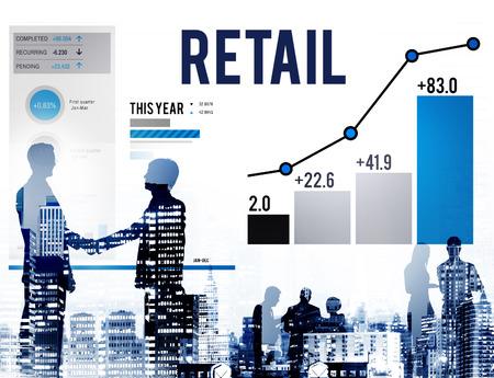 capitalismo: Retail Compras Compras Concepto capitalismo Cliente