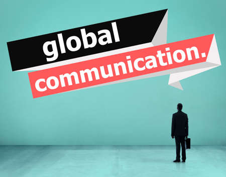 communicate concept: Global Communications Connection Communicate Concept