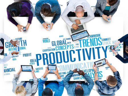 productividad: Productividad Visión Crecimiento Eficiencia Idea Éxito Solution Concept