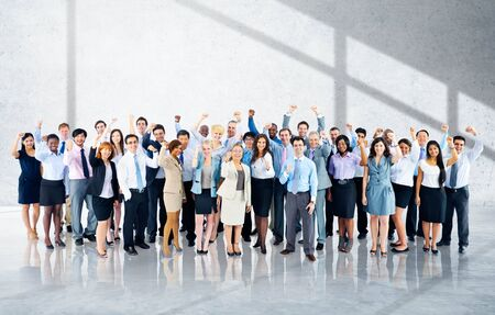 people shadow: Business Cheerful Cooperation Happiness Team Concept