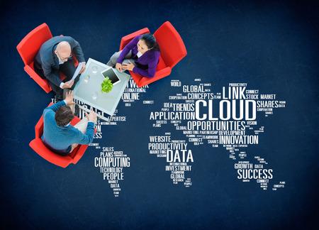 링크 클라우드 컴퓨팅 기술 데이터 정보 개념