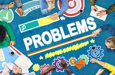 with difficulty: Problems Trouble Difficulty Failure Challenge Concept