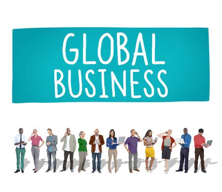 commerce: Global Business Marketing Globalization Commerce Concept Stock Photo