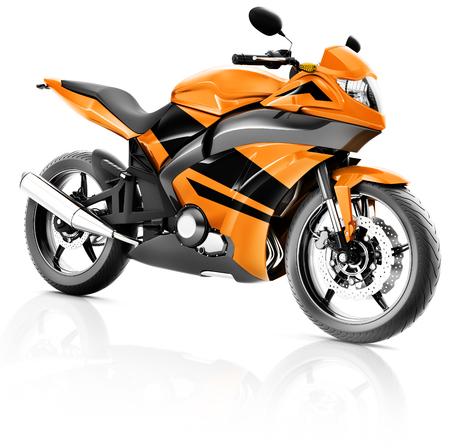 motorbike rider: Motorcycle Motorbike Bike Riding Rider Contemporary Orange Concept
