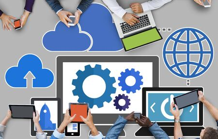 computing device: Cloud Computing Network Online Internet Storage Concept