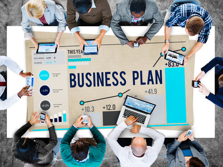 planning: Business Plan Planning Strategy Success Objective Concept