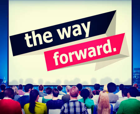 way forward: The Way Forward Development Aspiration Goal Concept Stock Photo