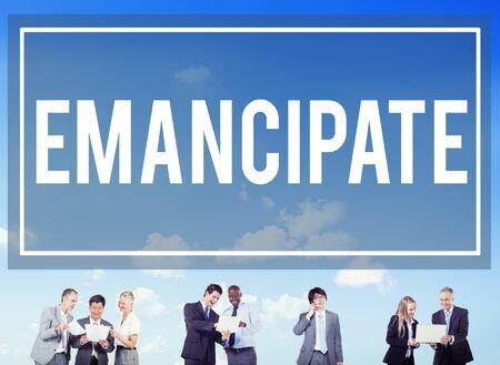 the emancipation: Emancipate Emancipated Emancipation Freedom Concept Stock Photo