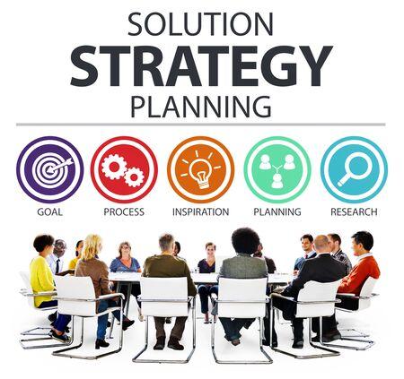 strategize: Strategy Business Goals Solution Success Concept