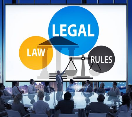 legal services: Legal Law Rules Community Justice Social Gathering Concept Stock Photo