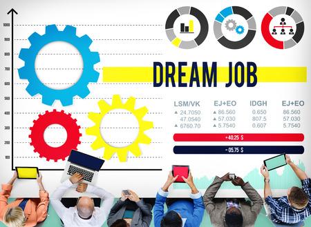 job occupation: Dream Job Occupation Goals Career Concept Stock Photo