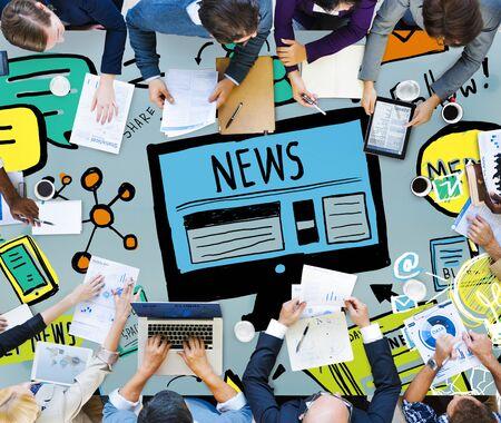 journalism: News Article Advertisement Publication Media Journalism Concept
