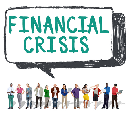 financiele crisis: Financial Crisis Bankruptcy Depression Finance Concept