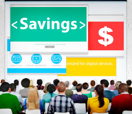 financial issues: Savings Finance Financial Issues Currency Money Seminar Concept