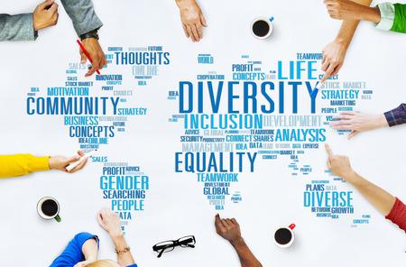 diversidad: Concepto Diversidad Etnia World Community Global Foto de archivo