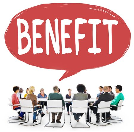benefit: Benefit Charity Income Profit Value Wages Welfare Concept