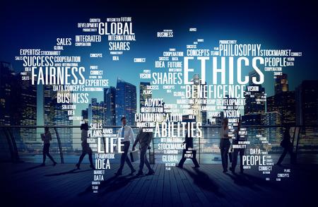 ideals: Ethics Ideals Principles Morals Standards Concept