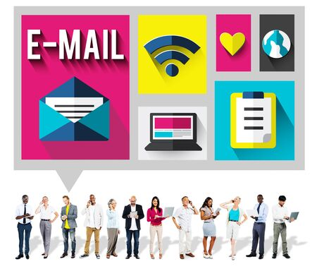 send: Email Message Send Connection Communication Concept