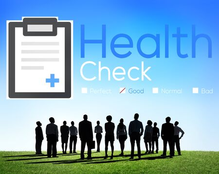 health care worker: Health Check Diagnosis Medical Condition Analysis Concept