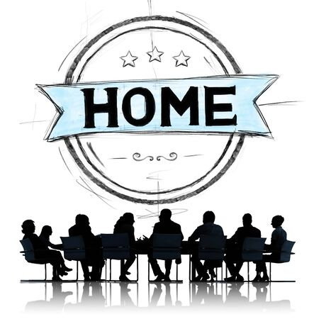 residential home: Home Residential Family Living House Concept Stock Photo