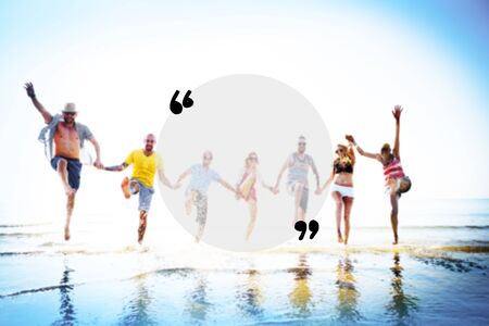 friendship: Blank Copy Space Holiday Quotation Mark Summer Concept