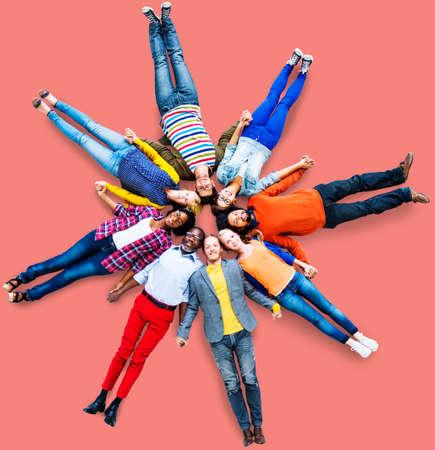 zweisamkeit: People Group Diversity Zusammenhalt Konzept