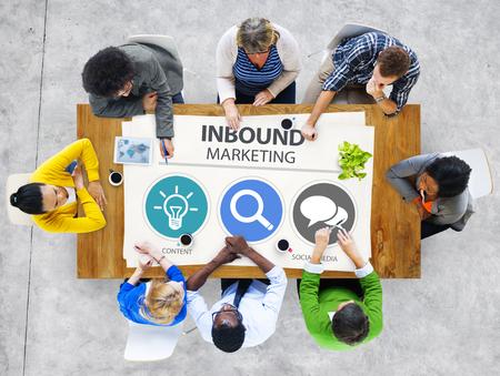 inbound marketing: Inbound Marketing Commerce Content Social Media Concept