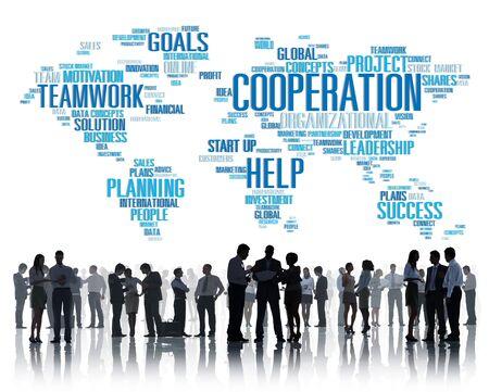 teamwork business: Coorperation Business Coworker Planning Teamwork Concept