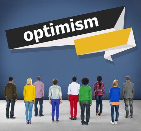 idealistic: Optimism Attitude Hopeful Positive Thinking Concept
