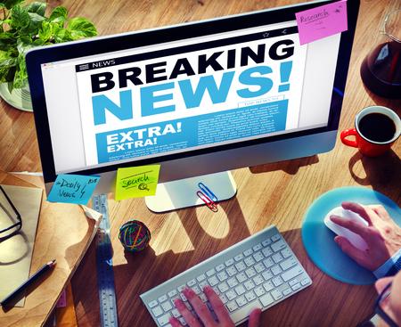 breaking news: Digital Online Breaking News Headline Concept