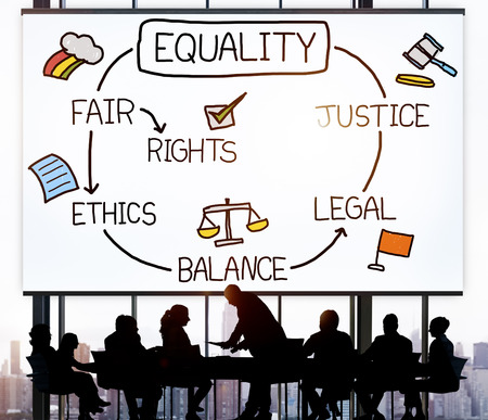 equality: Equality Rights Balance Fair Justice Ethics Concept Stock Photo