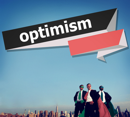 optimism: Optimism Attitude Hopeful Positive Thinking Concept