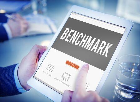 benchmarking: Benchmark Standard Management Improvement Benchmarking Concept Stock Photo