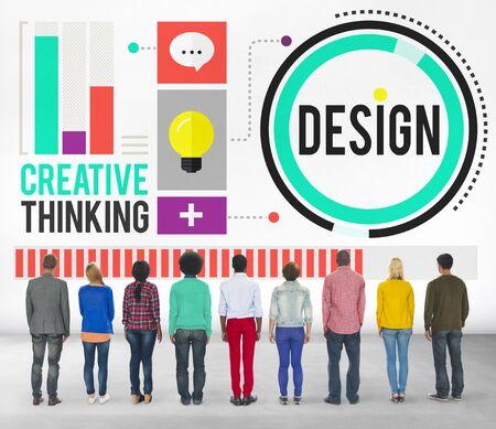 pensamiento creativo: Dise�o Creatividad Pensamiento Ideas Concept Designer Foto de archivo