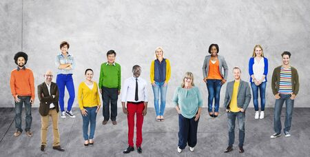 community people: Diversity People Community Standing Concept