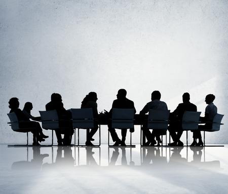 비즈니스 사람들이 회의 회의 토론 개념 스톡 콘텐츠