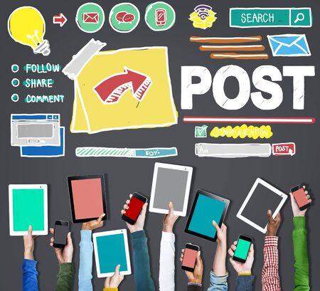 BLOG: Post Blog Social Media Share Online Communication Concept