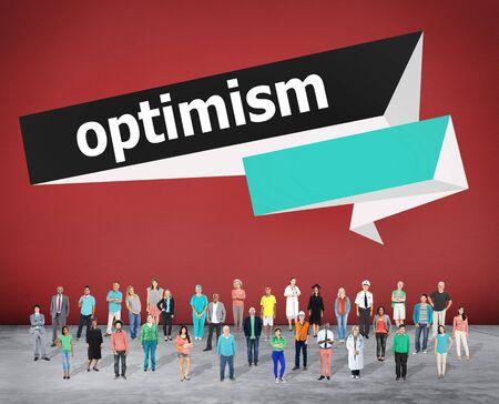 optimismo: Optimismo Actitud Positiva Hopeful Concepto Pensamiento