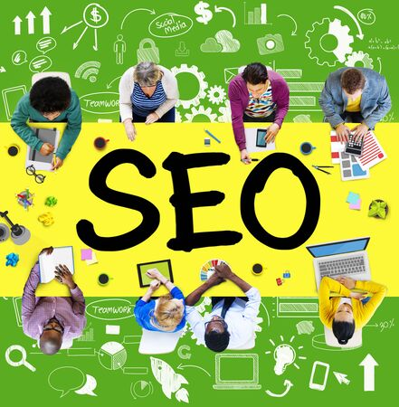 Search Engine Optimization Business Strategy Marketing Concept Stock Photo