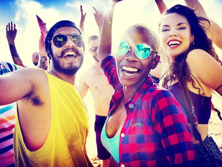 juventud: Amigos Summer Beach Party Festival Concepto