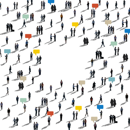 Crowd of business people concept