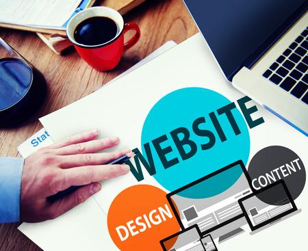 communications tools: Website Design Content Internet Online Connection Concept