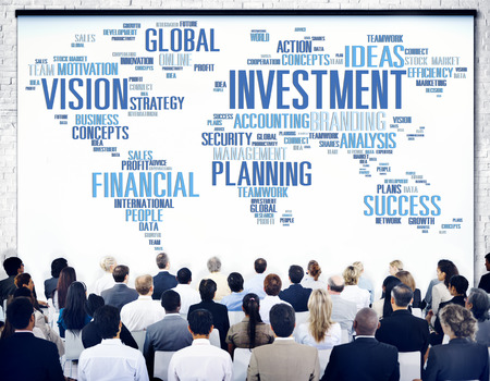 budget: Investment Global Business Profit Banking Budget Concept Stock Photo