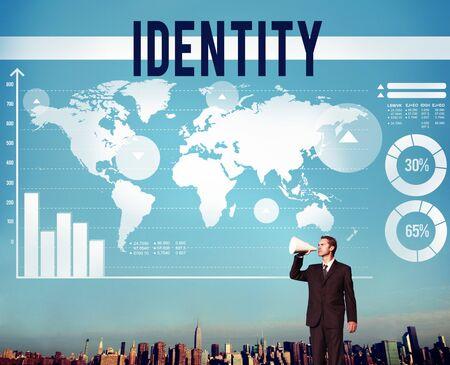 Identity Copyright Branding Product Marketing Concept Stock Photo