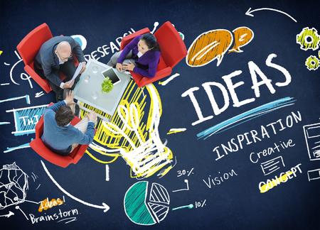 creativity and innovation: Ideas Innovation Creativity Knowledge Inspiration Vision Concept