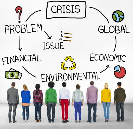 global crisis: Crisis Economic Environmental Finance Global Concept