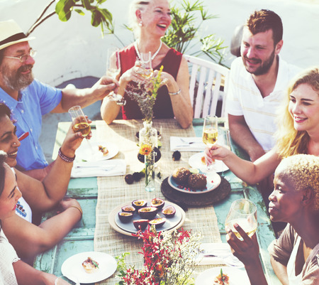 hanging out: Friends Friendship Outdoor Dining Hanging out Concept